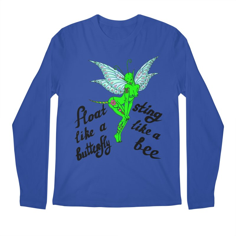 Float like a butterfly, sting like a bee Men's Regular Longsleeve T-Shirt by ShadoBado Artist Shop