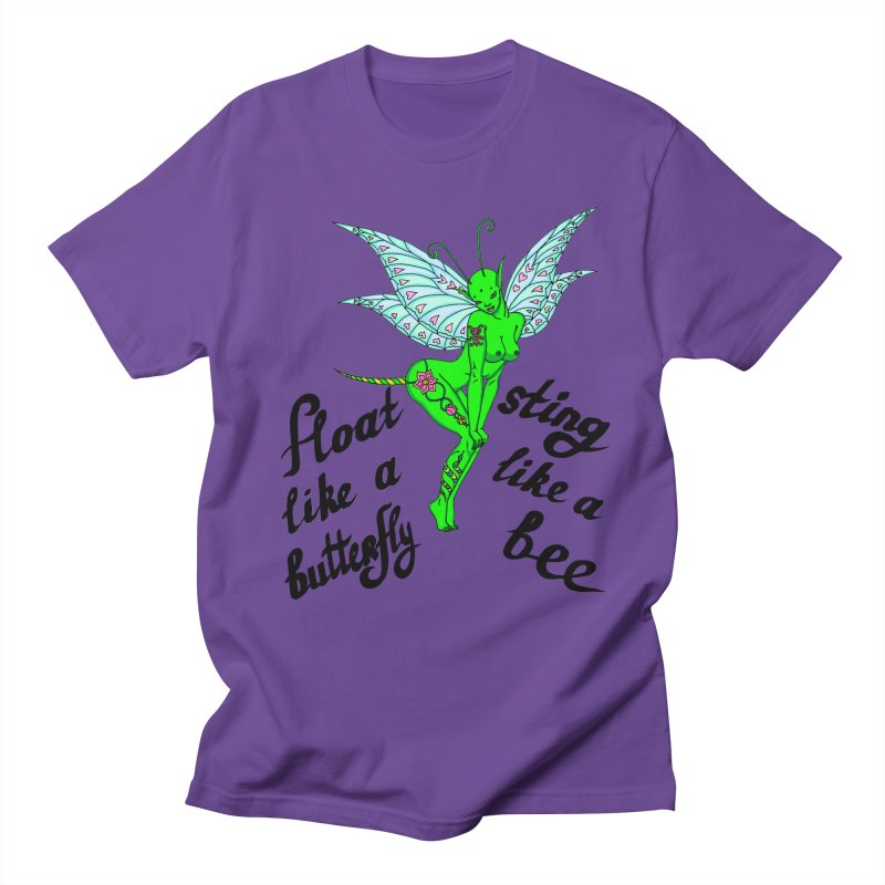 Float like a butterfly, sting like a bee Men's Regular T-Shirt by ShadoBado Artist Shop