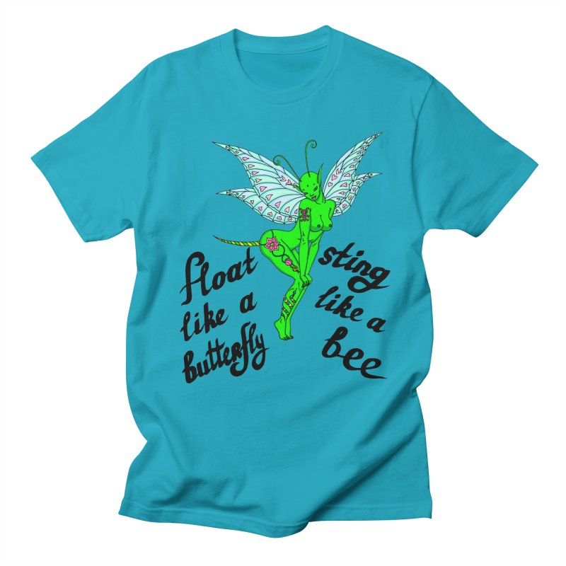 Float like a butterfly, sting like a bee Women's Regular Unisex T-Shirt by ShadoBado Artist Shop