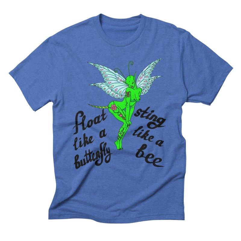 Float like a butterfly, sting like a bee Men's Triblend T-Shirt by ShadoBado Artist Shop