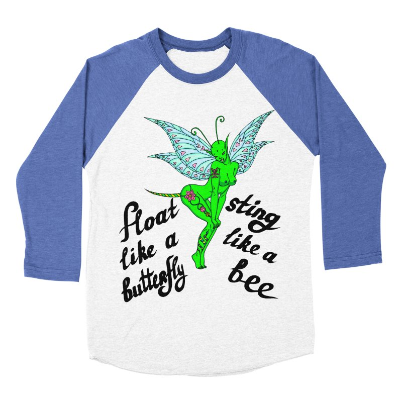 Float like a butterfly, sting like a bee Men's Baseball Triblend Longsleeve T-Shirt by ShadoBado Artist Shop