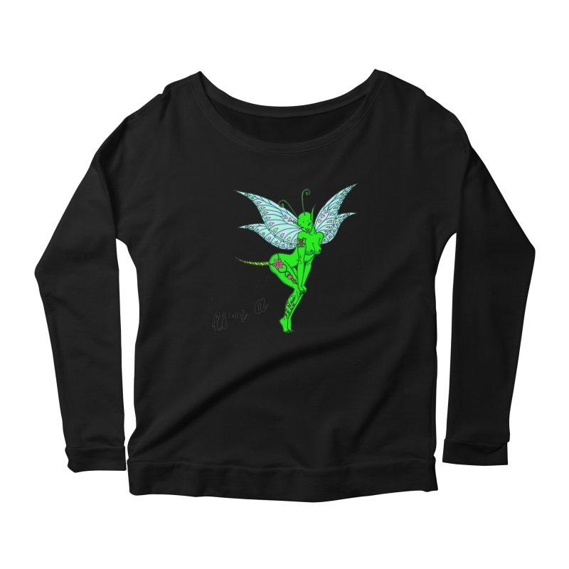 Float like a butterfly, sting like a bee Women's Scoop Neck Longsleeve T-Shirt by ShadoBado Artist Shop