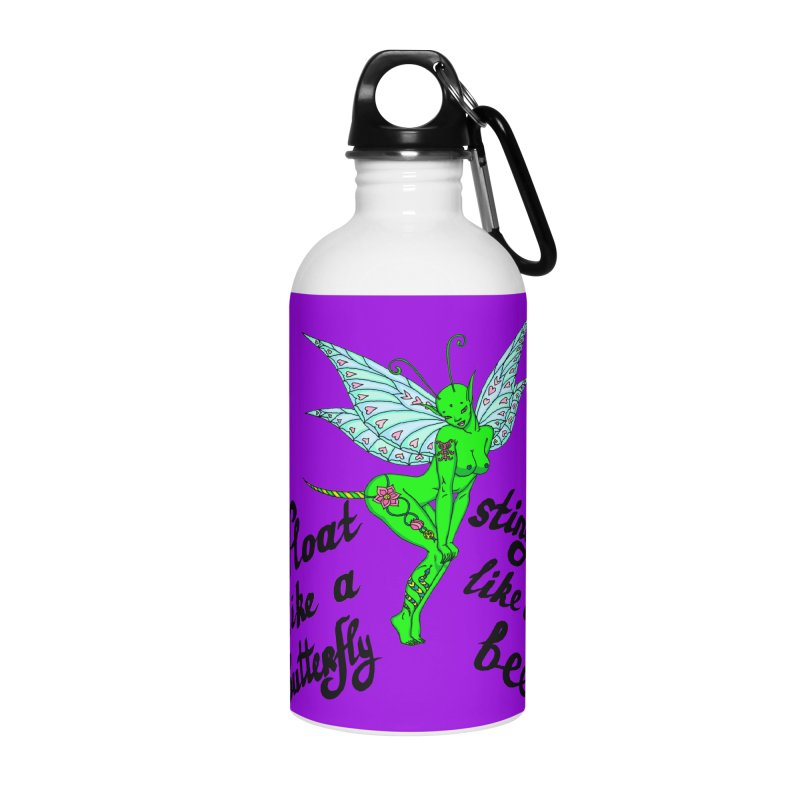 Float like a butterfly, sting like a bee Accessories Water Bottle by ShadoBado Artist Shop