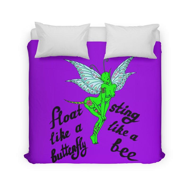 Float like a butterfly, sting like a bee Home Duvet by ShadoBado Artist Shop