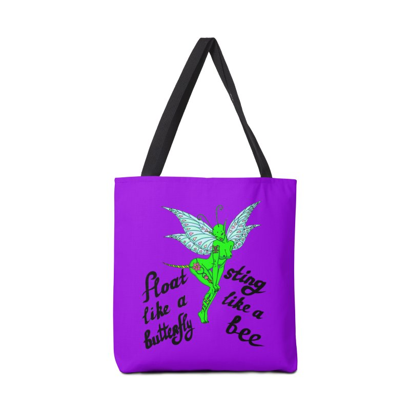 Float like a butterfly, sting like a bee Accessories Tote Bag Bag by ShadoBado Artist Shop