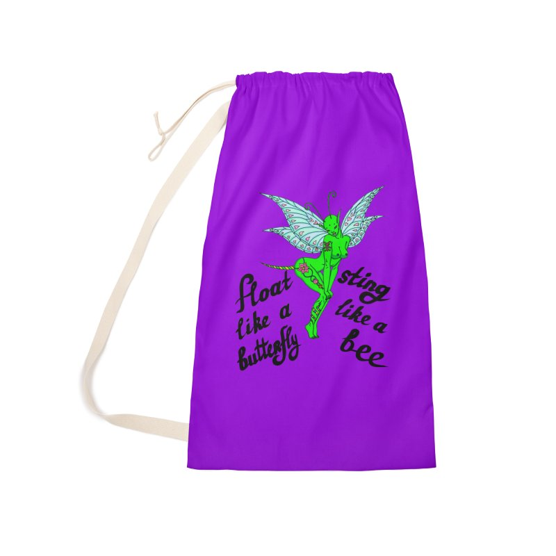 Float like a butterfly, sting like a bee Accessories Laundry Bag Bag by ShadoBado Artist Shop