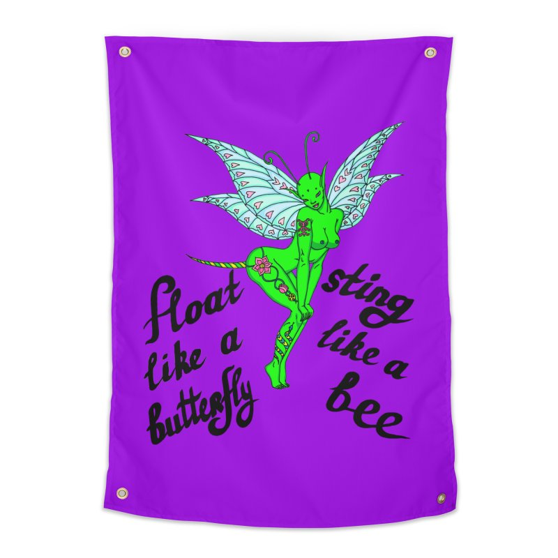 Float like a butterfly, sting like a bee Home Tapestry by ShadoBado Artist Shop