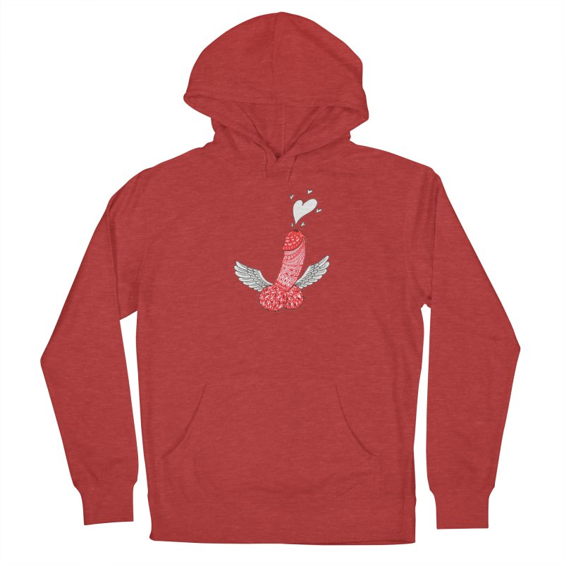 Love is in the air Women's French Terry Pullover Hoody by ShadoBado Artist Shop