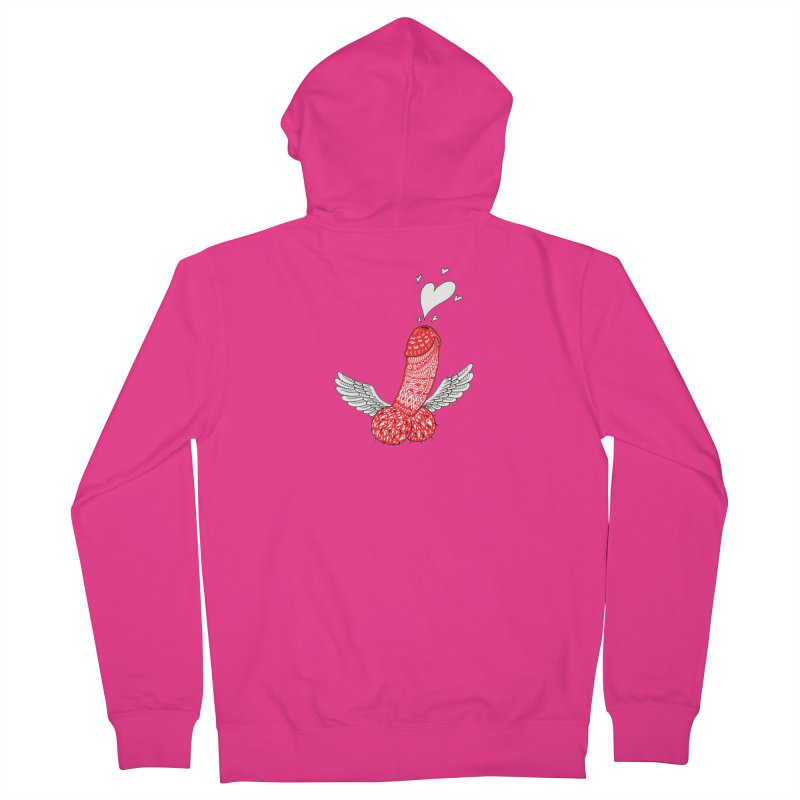 Love is in the air Men's French Terry Zip-Up Hoody by ShadoBado Artist Shop