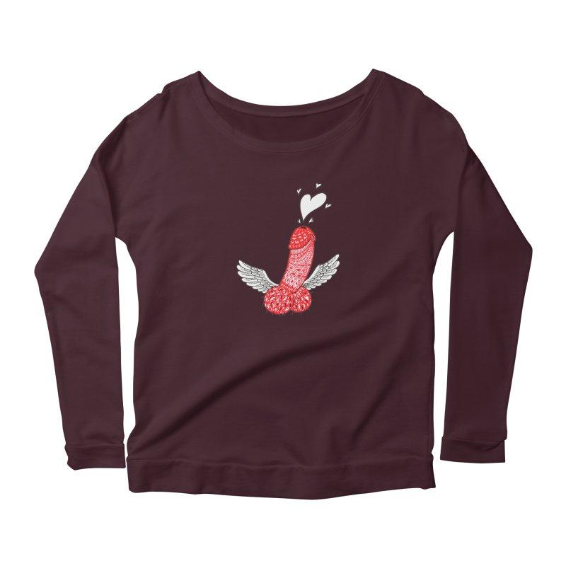 Love is in the air Women's Scoop Neck Longsleeve T-Shirt by ShadoBado Artist Shop