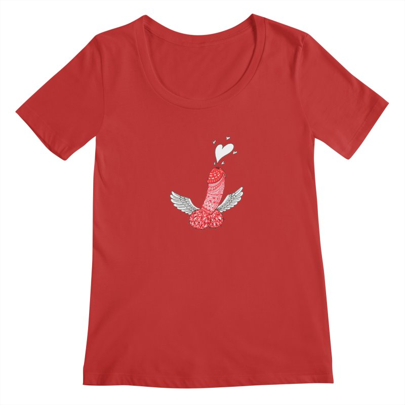 Love is in the air Women's Regular Scoop Neck by ShadoBado Artist Shop