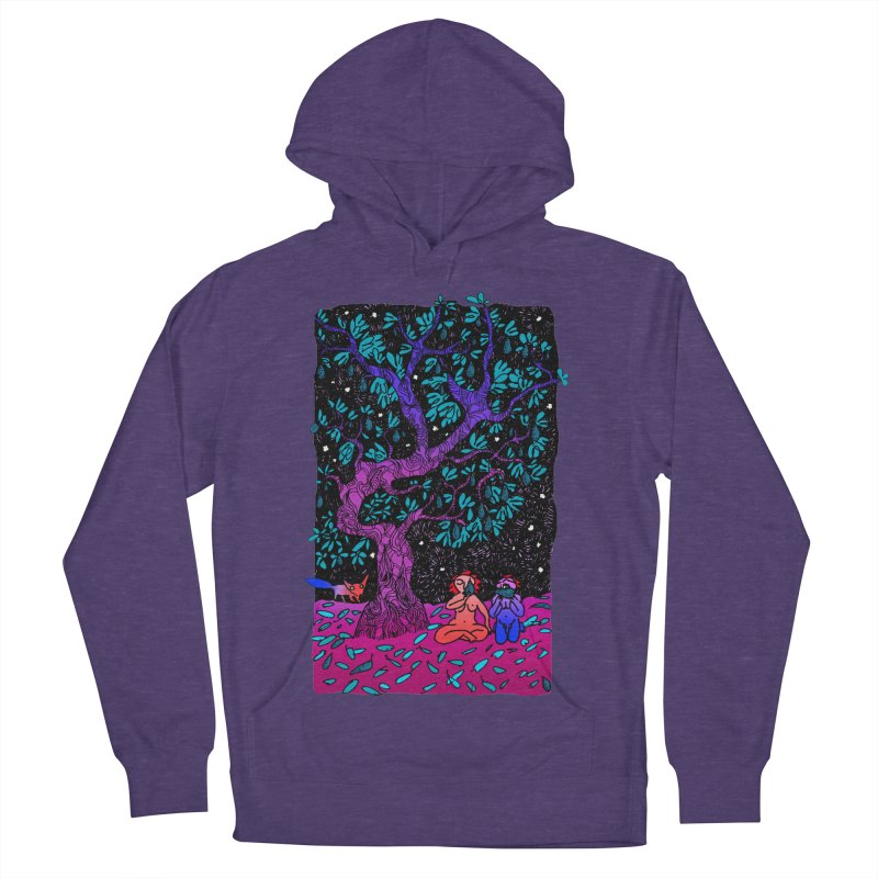 Avocado tree in crazy colours Men's French Terry Pullover Hoody by ShadoBado Artist Shop
