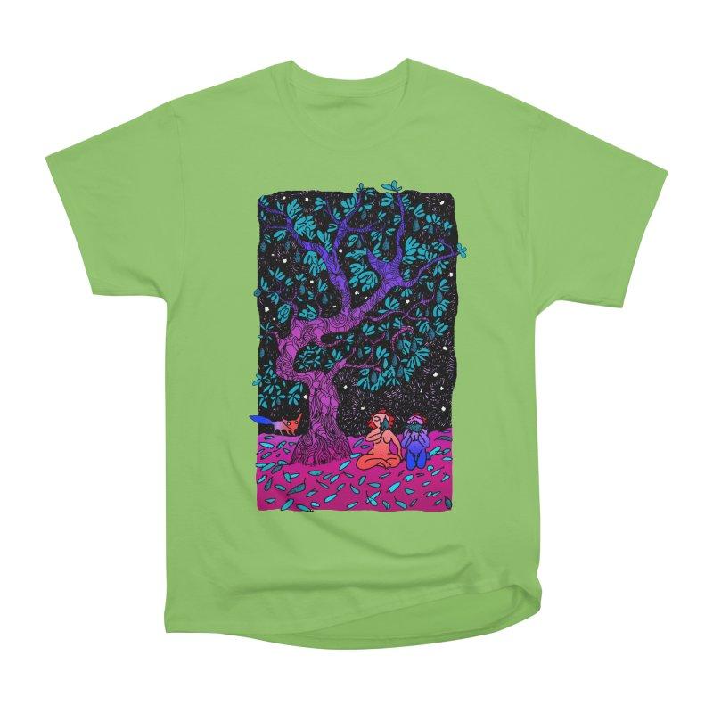 Avocado tree in crazy colours Women's Heavyweight Unisex T-Shirt by ShadoBado Artist Shop
