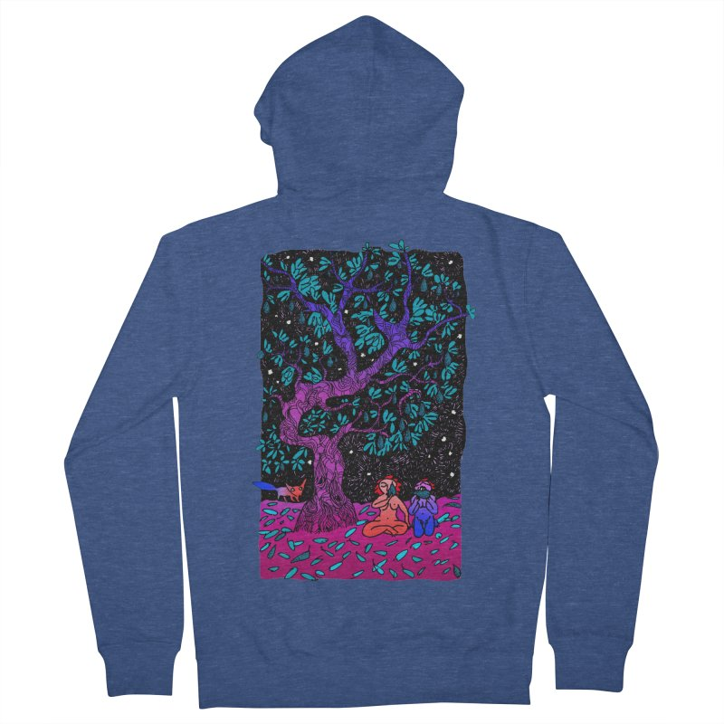Avocado tree in crazy colours Women's French Terry Zip-Up Hoody by ShadoBado Artist Shop