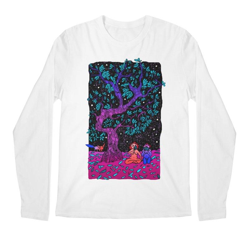 Avocado tree in crazy colours Men's Regular Longsleeve T-Shirt by ShadoBado Artist Shop