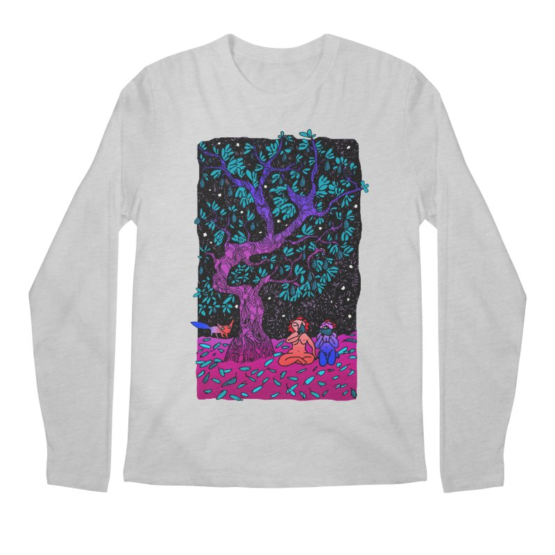 Avocado tree in crazy colours Men's Regular Longsleeve T-Shirt by ShadoBado Artist Shop