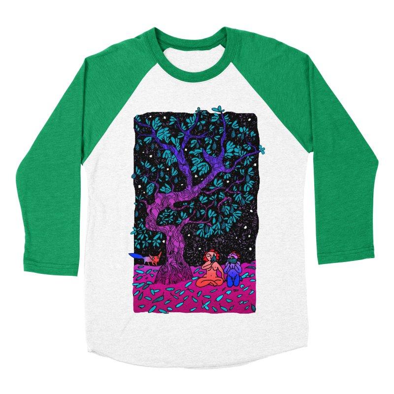 Avocado tree in crazy colours Women's Baseball Triblend Longsleeve T-Shirt by ShadoBado Artist Shop