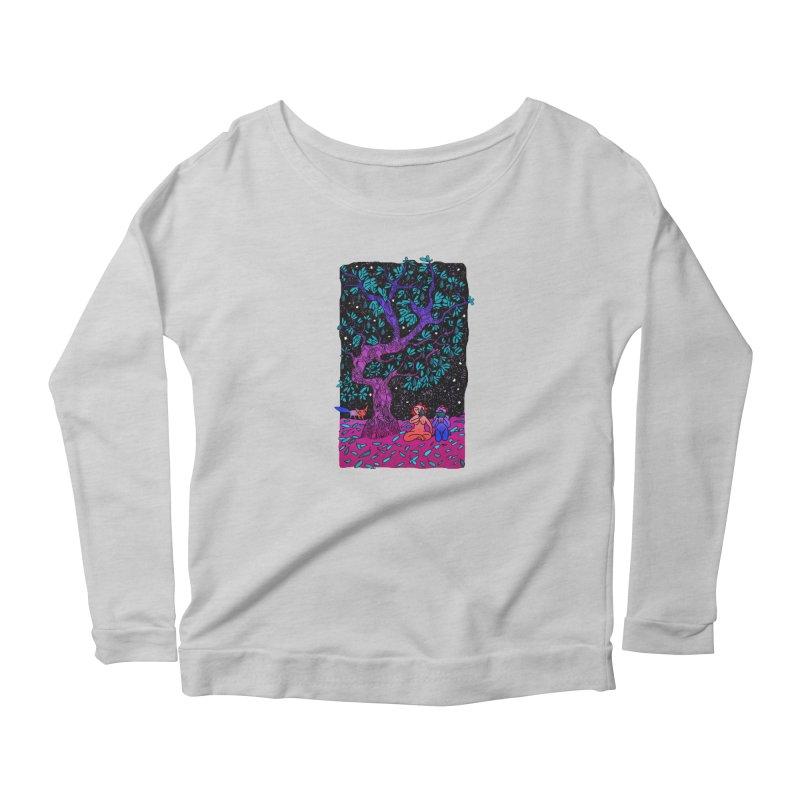 Avocado tree in crazy colours Women's Scoop Neck Longsleeve T-Shirt by ShadoBado Artist Shop