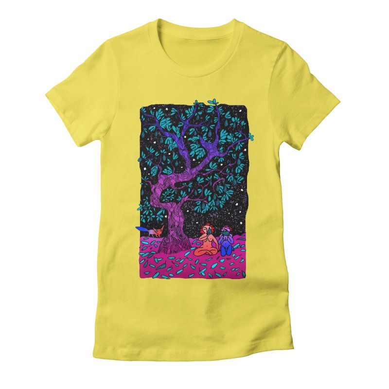 Avocado tree in crazy colours Women's Fitted T-Shirt by ShadoBado Artist Shop