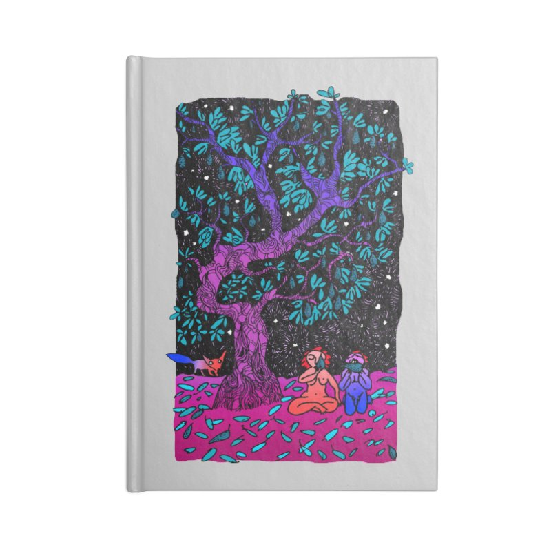 Avocado tree in crazy colours Accessories Lined Journal Notebook by ShadoBado Artist Shop