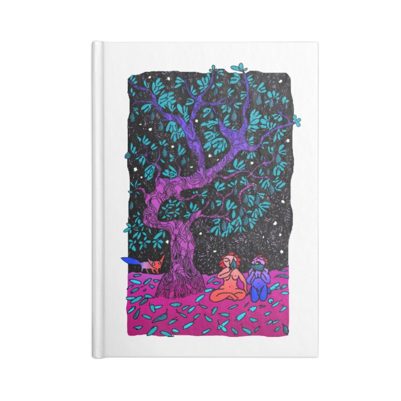 Avocado tree in crazy colours Accessories Blank Journal Notebook by ShadoBado Artist Shop