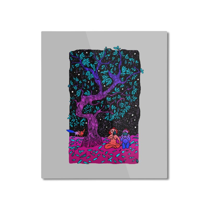 Avocado tree in crazy colours Home Mounted Aluminum Print by ShadoBado Artist Shop