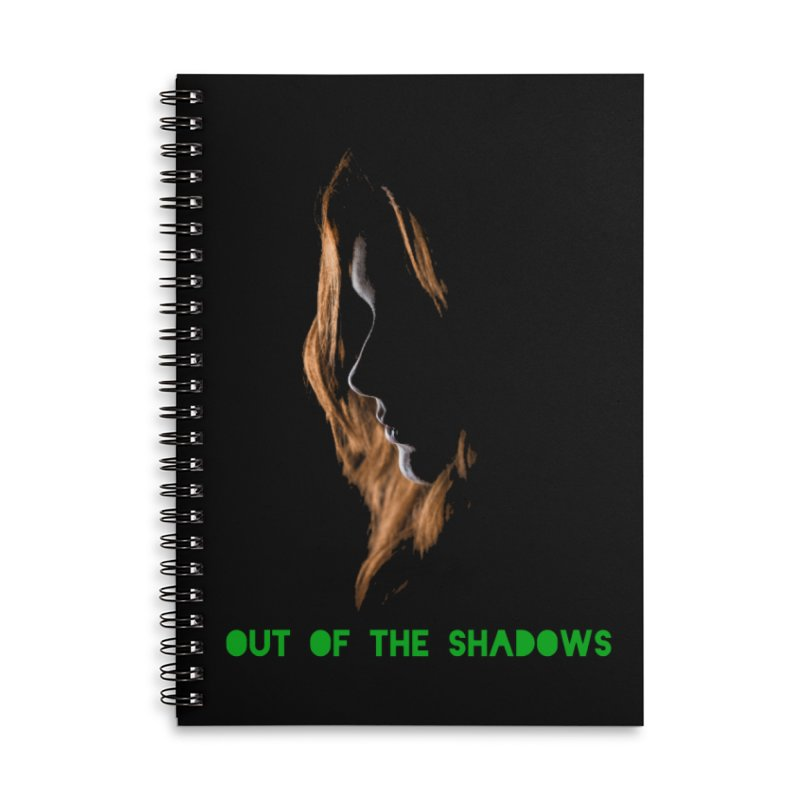 Red Accessories Lined Spiral Notebook by Out of the Shadows's Store