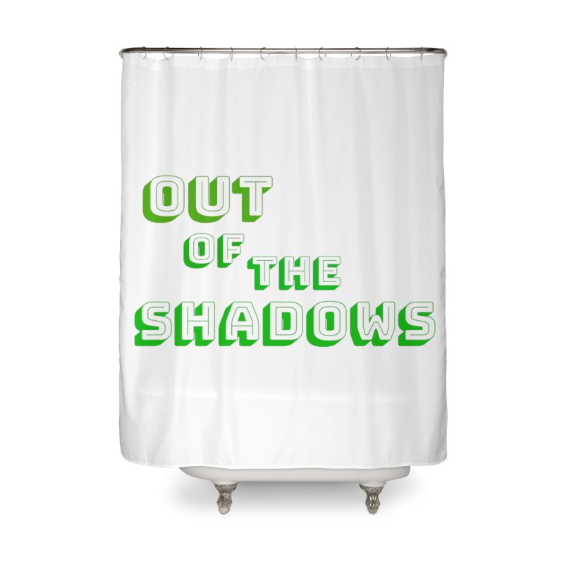 Simple Title Home Shower Curtain by Out of the Shadows's Store