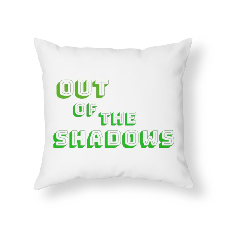 Simple Title Home Throw Pillow by Out of the Shadows's Store