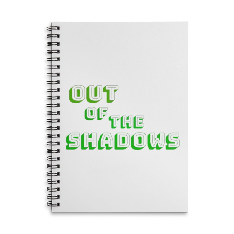 Simple Title Accessories Lined Spiral Notebook by Out of the Shadows's Store