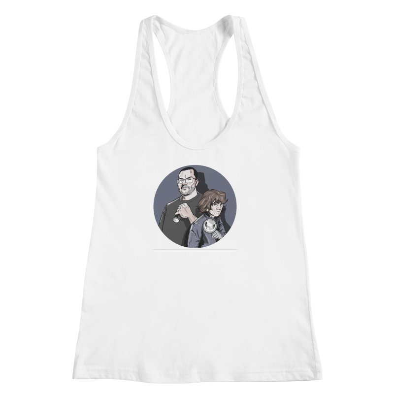 Logo (Circle Gray) Women's Racerback Tank by Out of the Shadows's Store