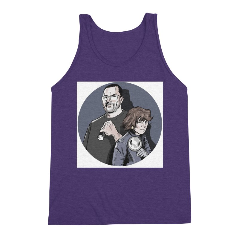Logo (Circle Gray) Men's Triblend Tank by Out of the Shadows's Store
