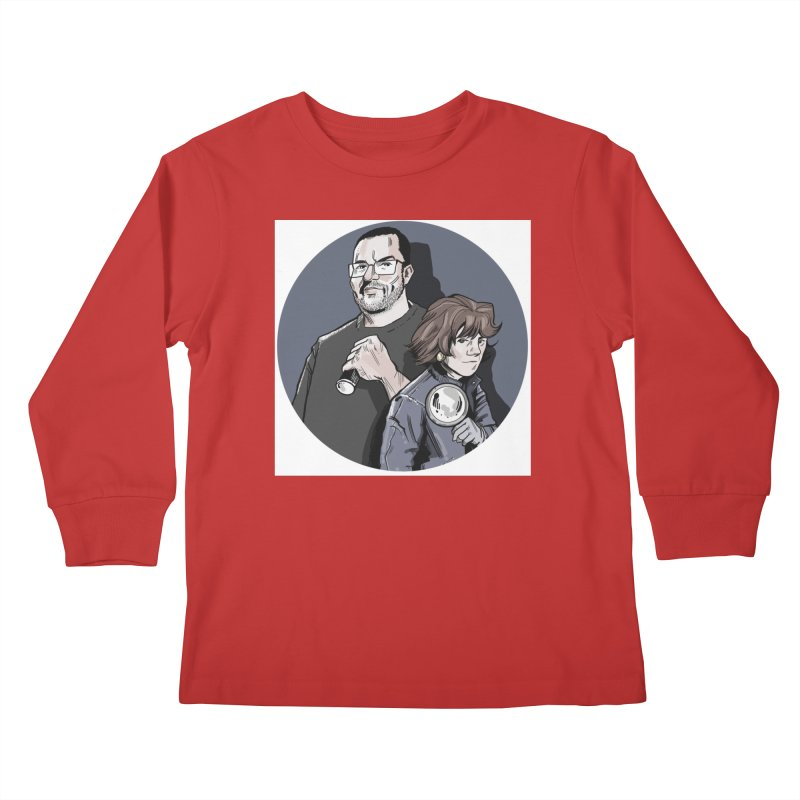 Logo (Circle Gray) Kids Longsleeve T-Shirt by Out of the Shadows's Store
