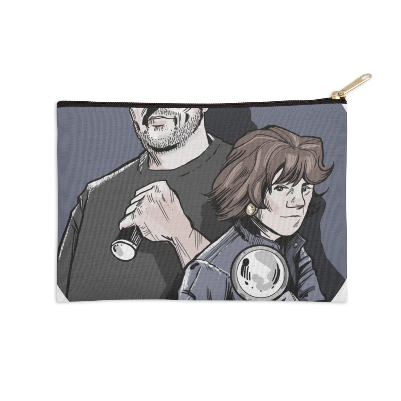 Logo (Circle Gray) Accessories Zip Pouch by Out of the Shadows's Store