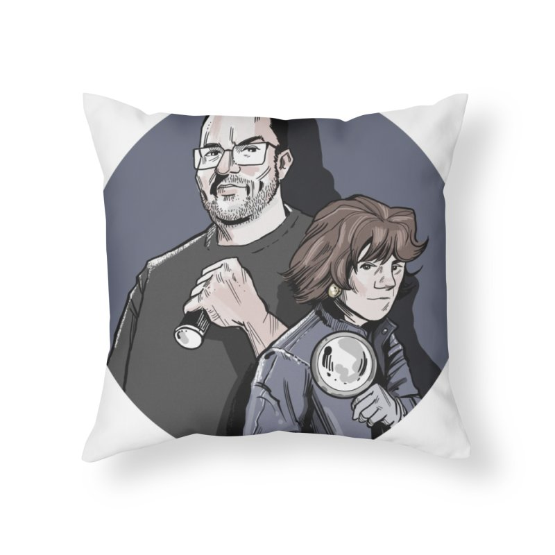 Logo (Circle Gray) Home Throw Pillow by Out of the Shadows's Store