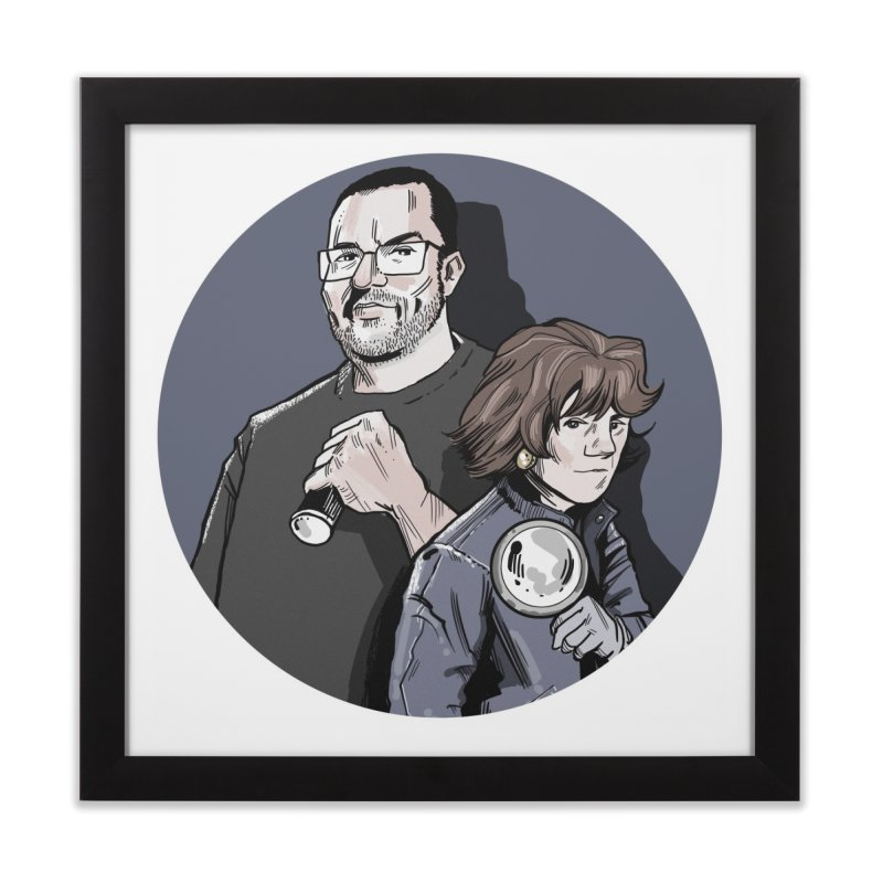 Logo (Circle Gray) Home Framed Fine Art Print by Out of the Shadows's Store
