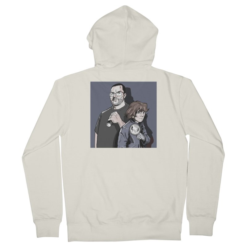 Logo (Square Gray) Men's French Terry Zip-Up Hoody by Out of the Shadows's Store