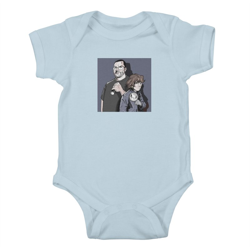 Logo (Square Gray) Kids Baby Bodysuit by Out of the Shadows's Store
