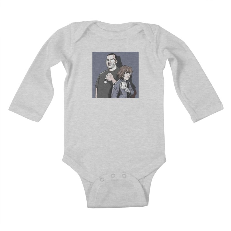 Logo (Square Gray) Kids Baby Longsleeve Bodysuit by Out of the Shadows's Store