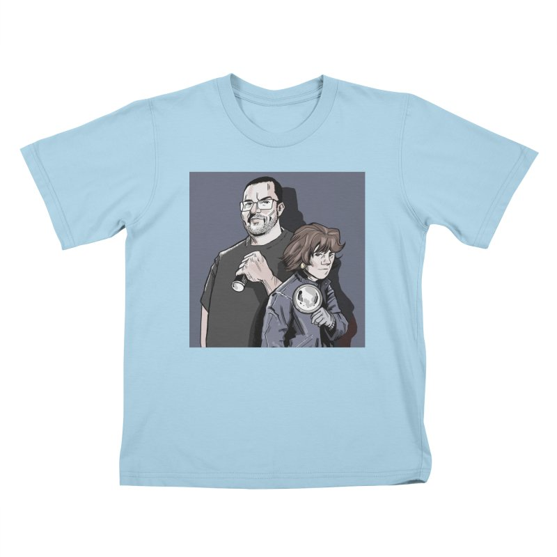 Logo (Square Gray) Kids T-Shirt by Out of the Shadows's Store