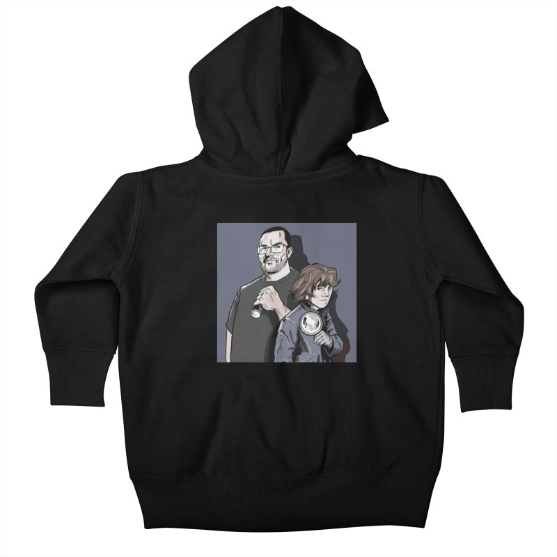 Logo (Square Gray) Kids Baby Zip-Up Hoody by Out of the Shadows's Store