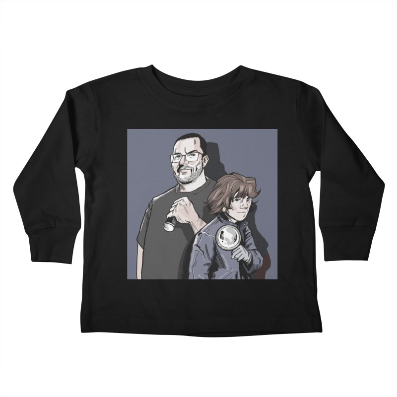 Logo (Square Gray) Kids Toddler Longsleeve T-Shirt by Out of the Shadows's Store
