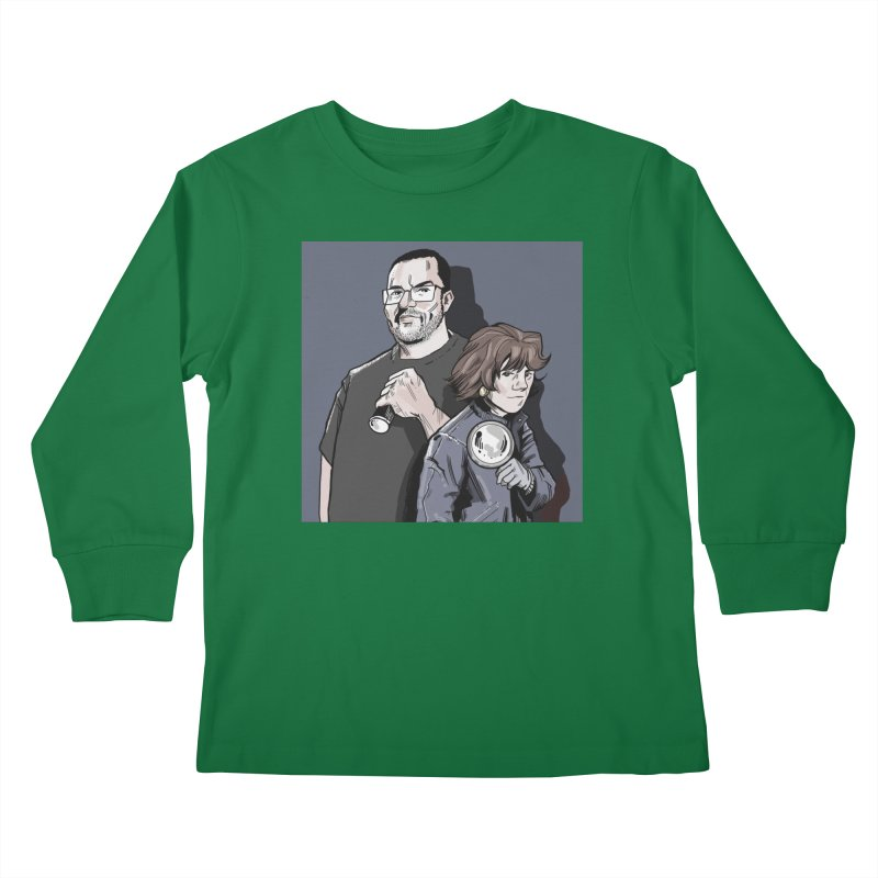 Logo (Square Gray) Kids Longsleeve T-Shirt by Out of the Shadows's Store