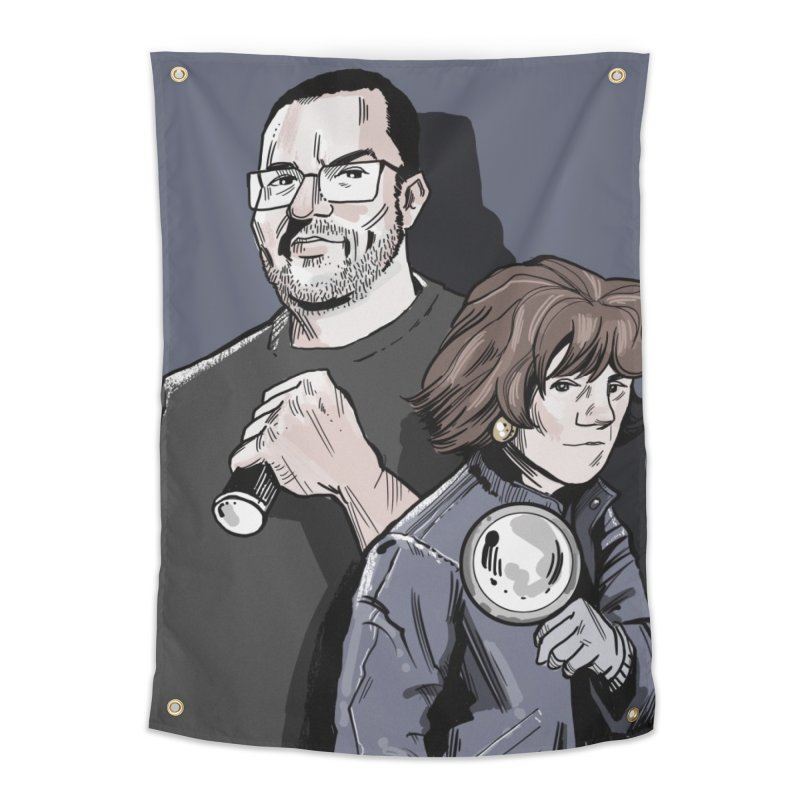 Logo (Square Gray) Home Tapestry by Out of the Shadows's Store