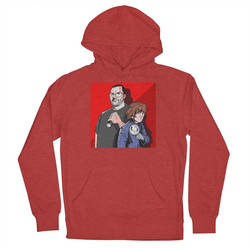 Logo (Square Red) Men's French Terry Pullover Hoody by Out of the Shadows's Store