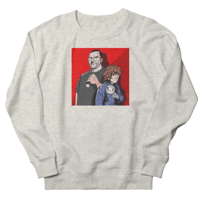 Logo (Square Red) Men's French Terry Sweatshirt by Out of the Shadows's Store
