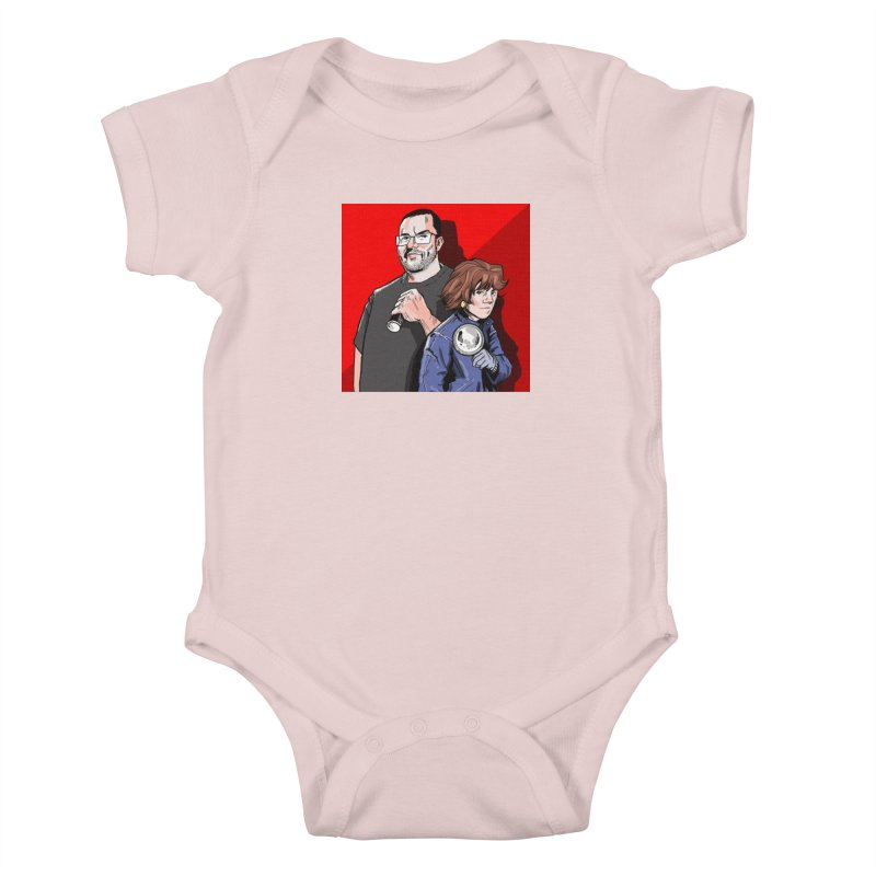 Logo (Square Red) Kids Baby Bodysuit by Out of the Shadows's Store