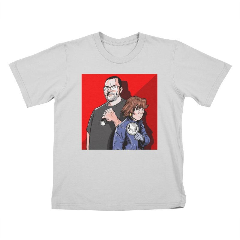 Logo (Square Red) Kids T-Shirt by Out of the Shadows's Store