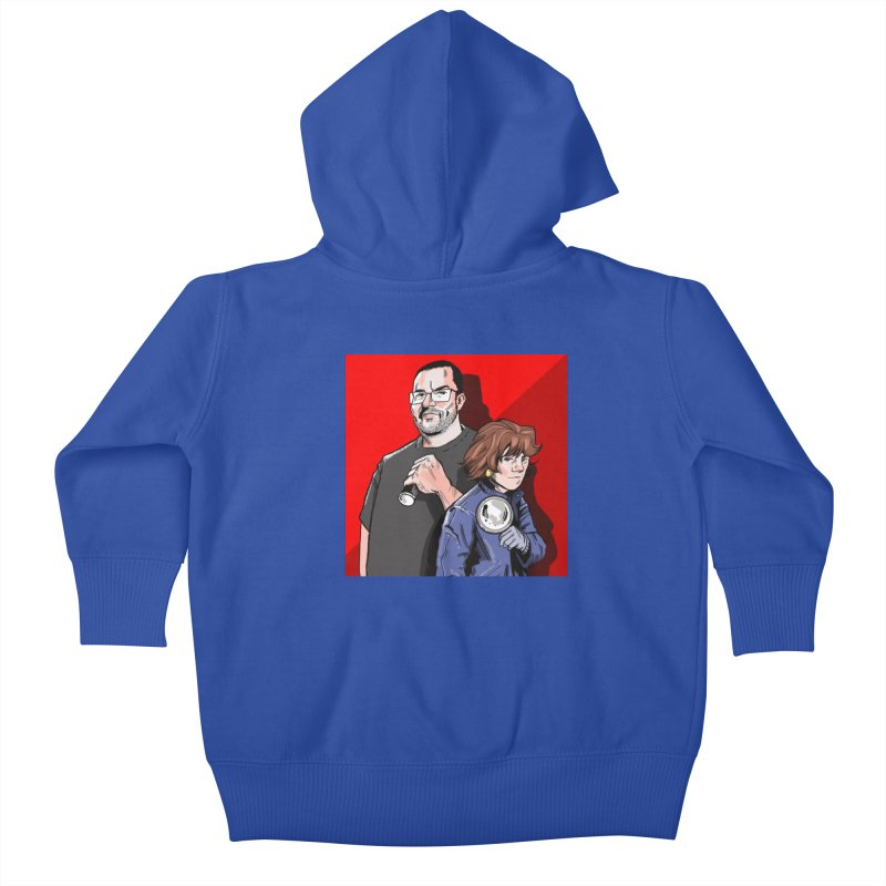 Logo (Square Red) Kids Baby Zip-Up Hoody by Out of the Shadows's Store