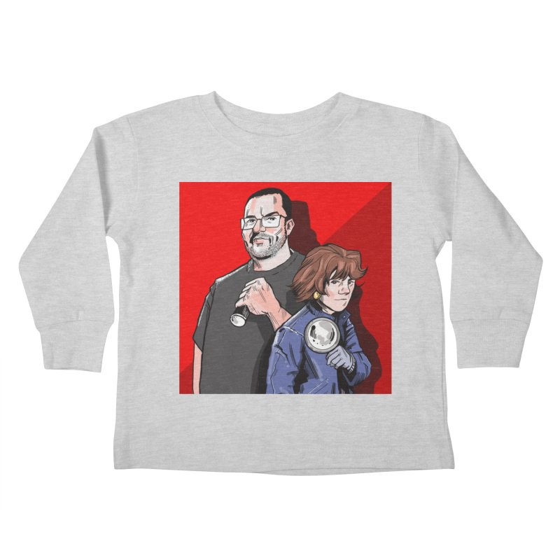 Logo (Square Red) Kids Toddler Longsleeve T-Shirt by Out of the Shadows's Store
